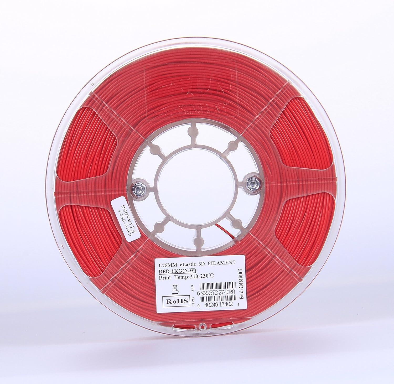 Esun elástica TPE 3d impresora filamento de 1,75 mm 1 kg bobina (1 ...