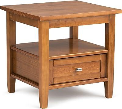 Amazon Com New Chairside End Table In Rich Espresso