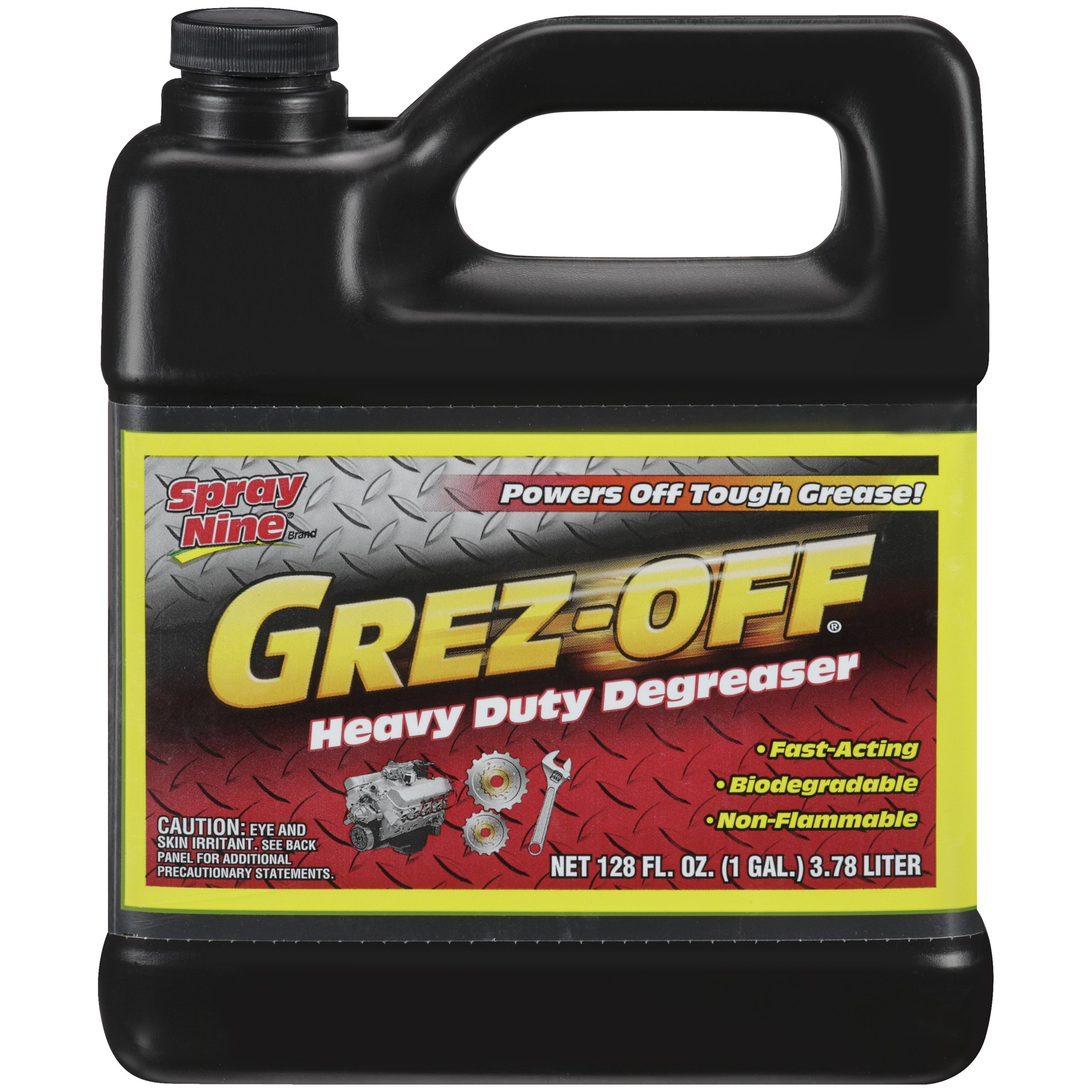 Spray Nine 22701 Grez-Off Heavy Duty Degreaser, 1 Gallon by Spray Nine