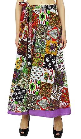 Phagun Patrón Floral algodón Boho Hippie Falda del Abrigo de Capa Individual de los Sarong: Amazon.es: Ropa y accesorios