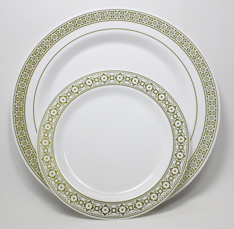 Amazon.com Palatial Gold Dinner Plates - 10.5  (Set of 10) Kitchen u0026 Dining  sc 1 st  Amazon.com & Amazon.com: Palatial Gold Dinner Plates - 10.5