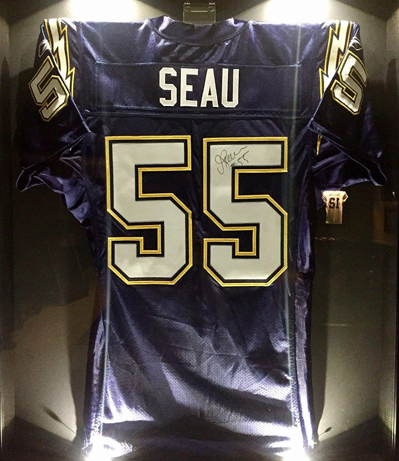 20547b95 Junior Jr. Seau Team Issued Signed Chargers Pro NFL Game Jersey NFL ...
