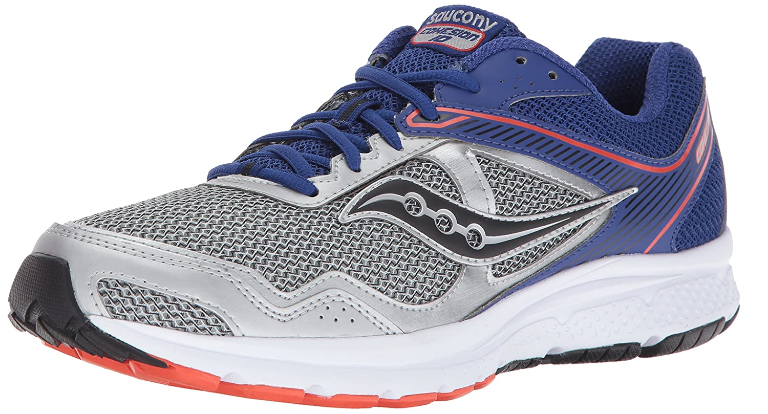 【本物保証】 SAUCONY Blue ZAPATILLA M S25333-2 COHESION/ 10 GRAY B01N0THHFK Silver/ Blue/ Orange 8.5 M US 8.5 M US|Silver/ Blue/ Orange, dainago:f000586c --- svecha37.ru