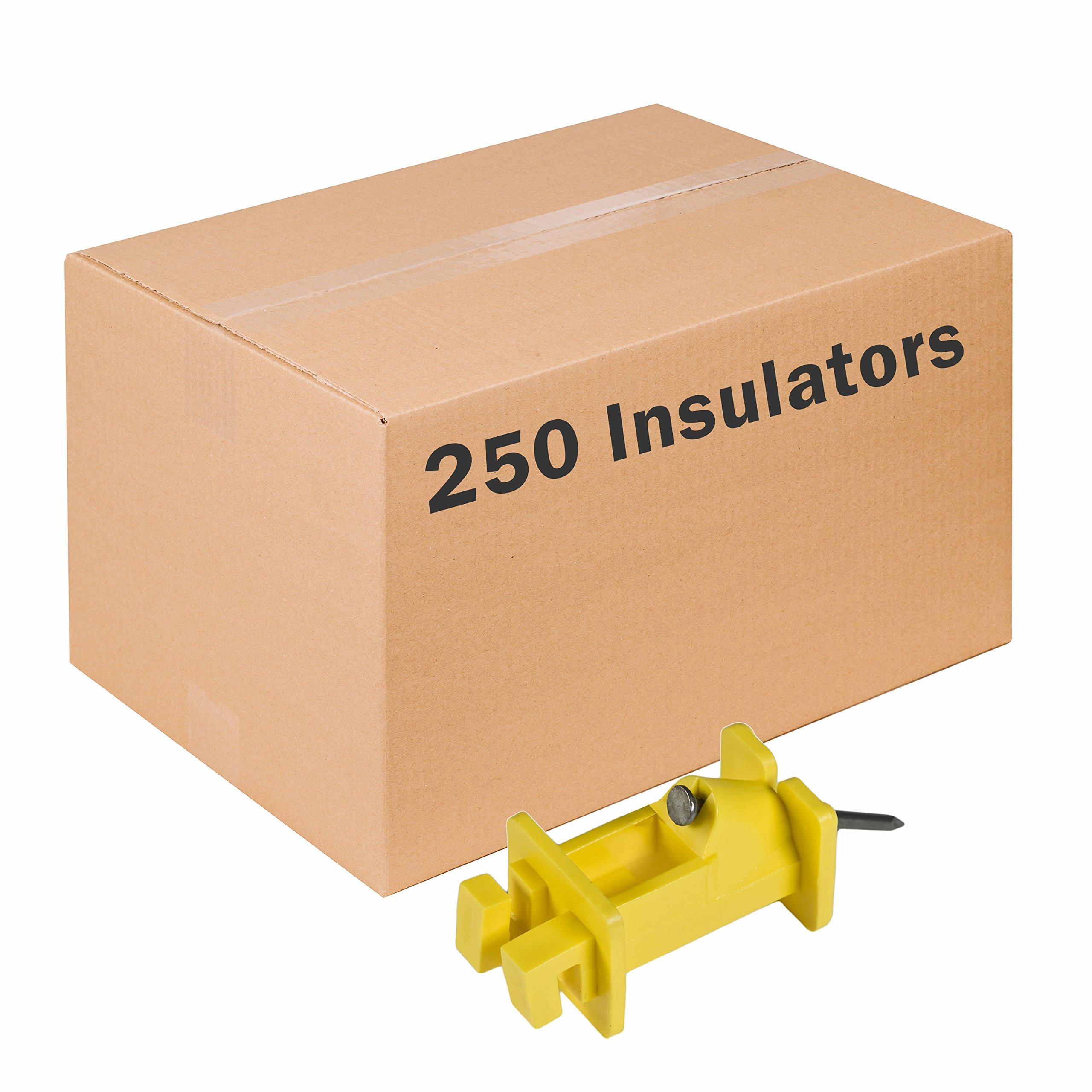 Safer Brand Zareba IWNY-Z Yellow Slant Nail Insulator - 250 Pack