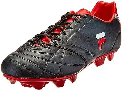 fdea2d92f506 ... Fila Men s Fredo Black and Red Football Boots - 11 UK India (45 EU ...