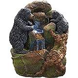 Design Toscano Grizzly Gulch Black Bears Sculptural Fountain