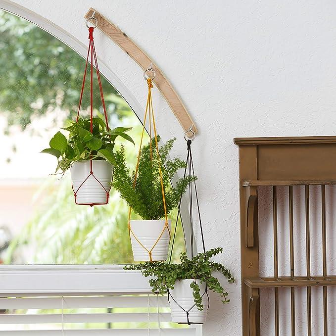 Amazon.com: Maceta colgante para interiores de cerámica ...