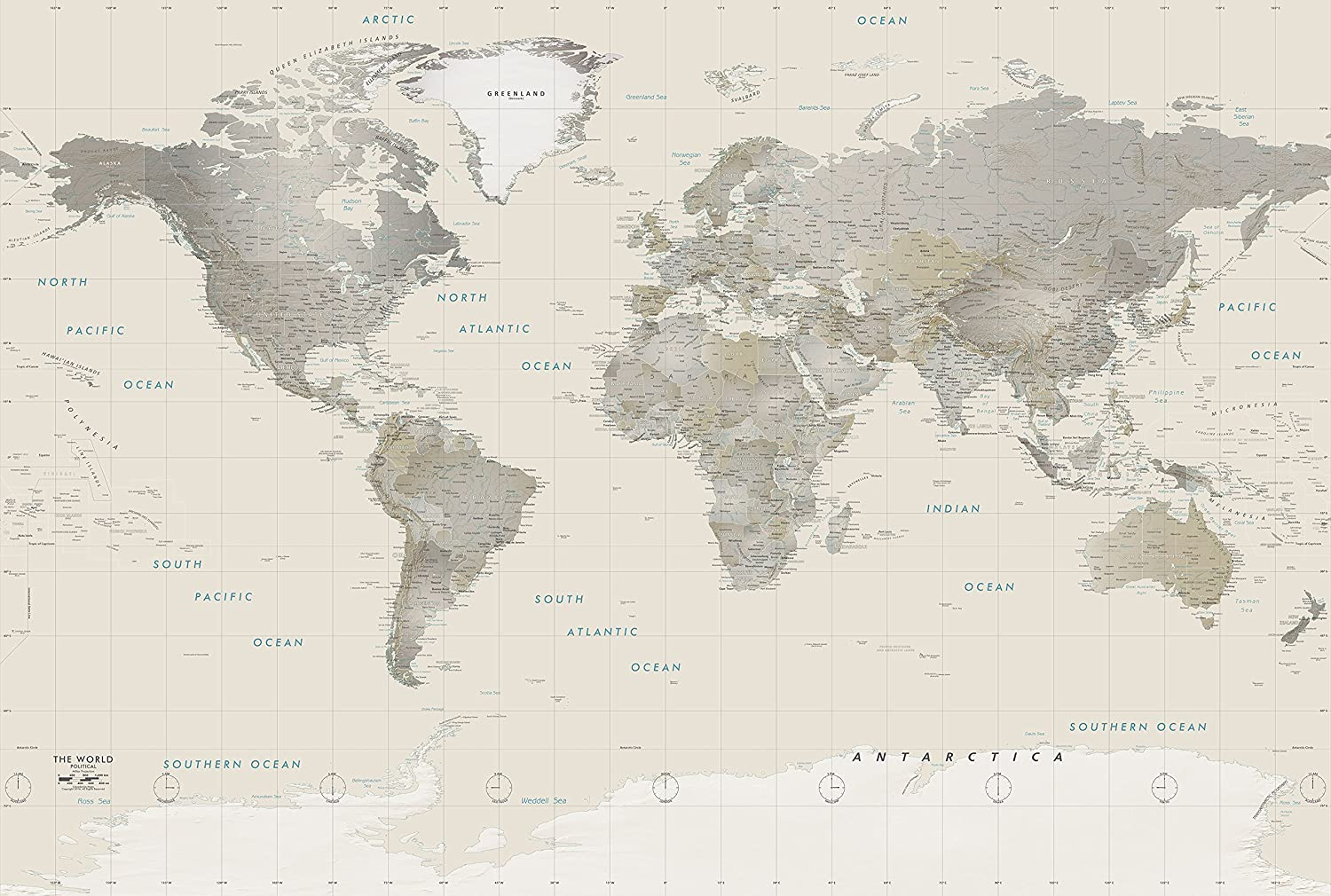 Academia Maps World Map Wall Mural