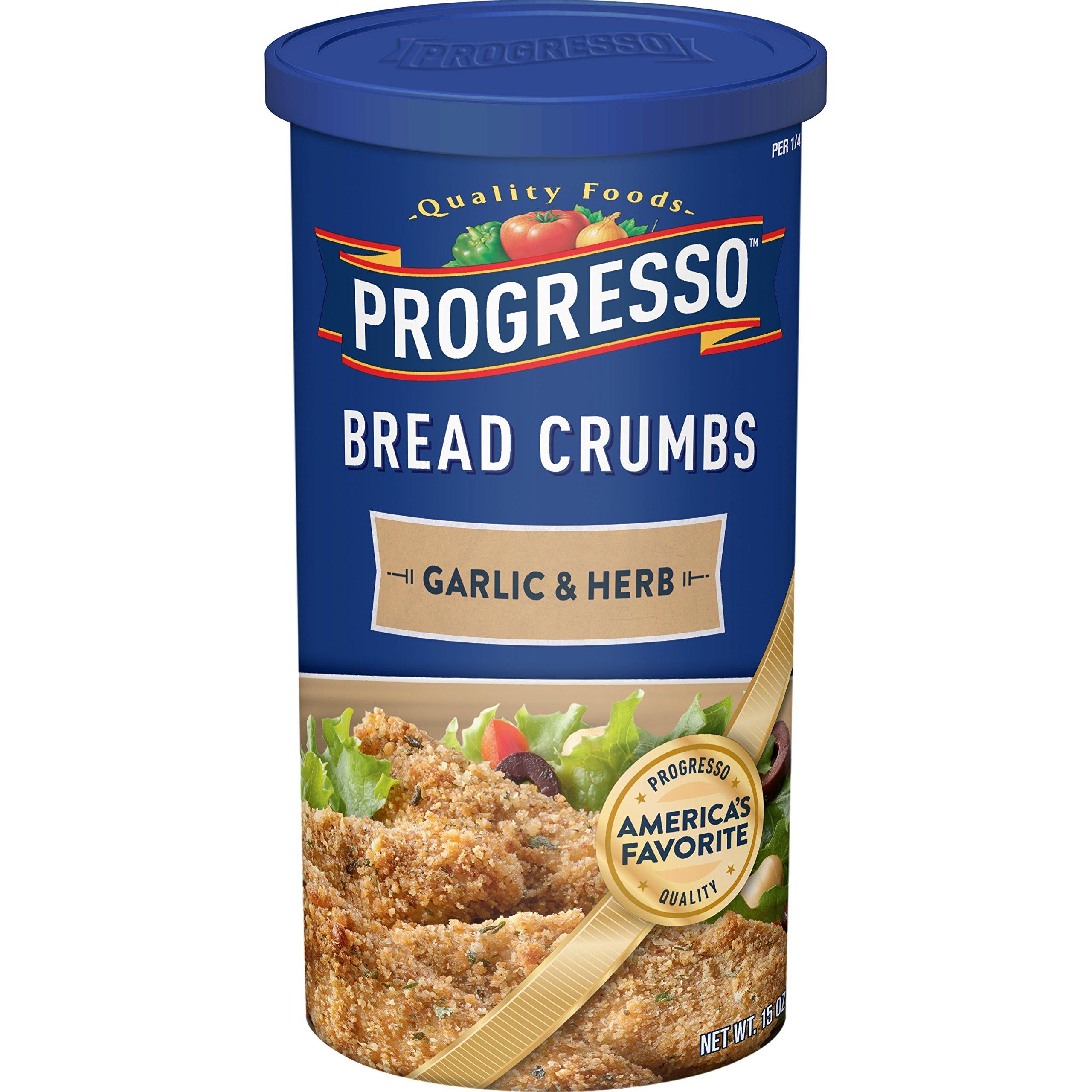 Progresso Garlic & Herb Bread Crumbs 15 oz. Canister