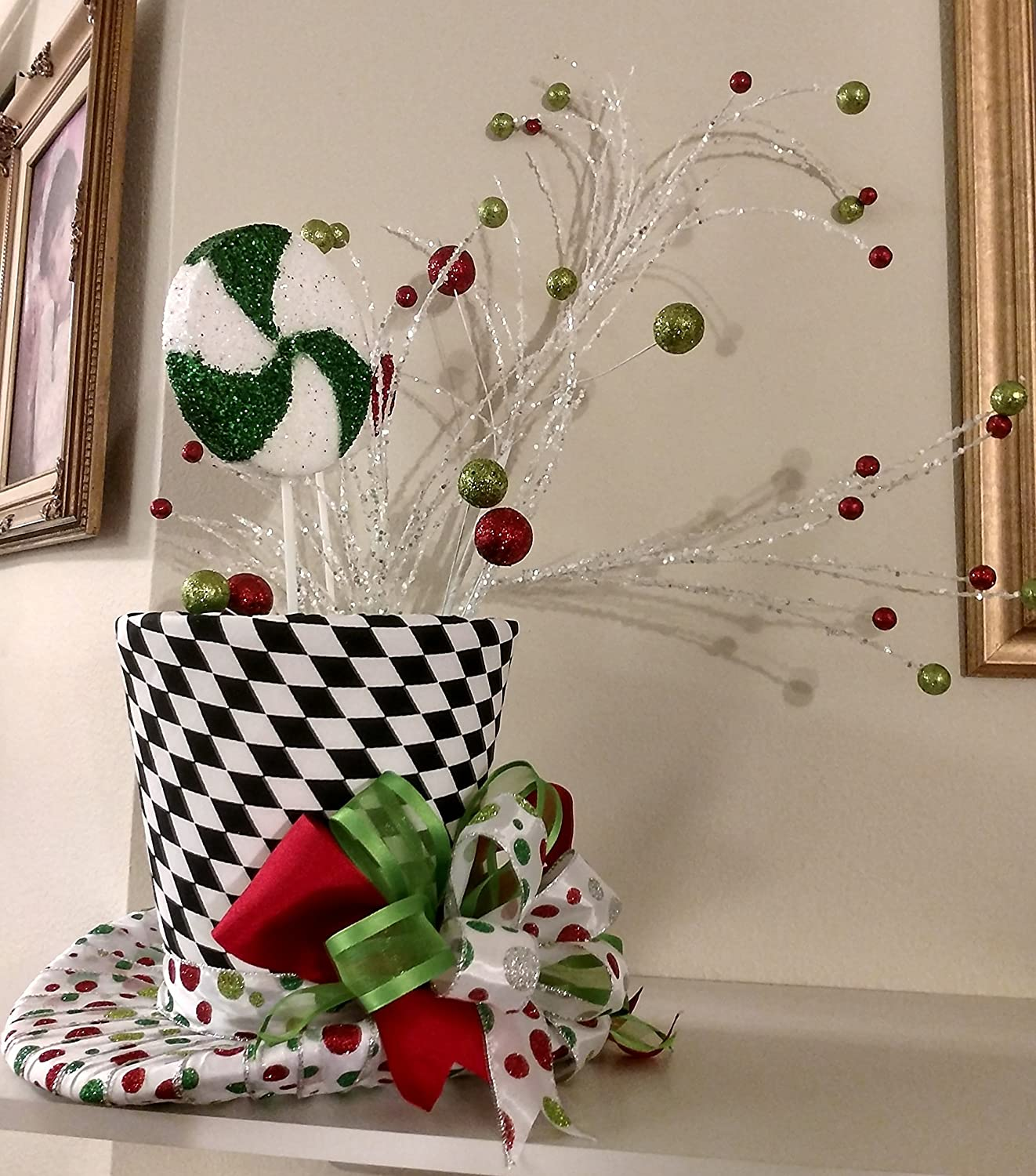 Amazon Extra Christmas Tree Topper Whimsical Peppermint