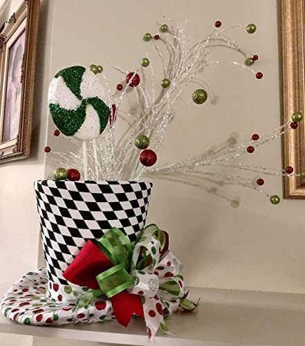 extra large christmas tree topper whimsical peppermint top hat tree topper tree topper bow