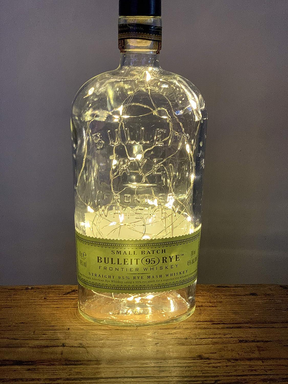 Bulleit RYE 95 Whiskey 70cl LED Bottle Lamp