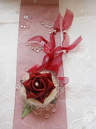 Amazon De Tischdekoration Bordeaux Zur Hochzeit Verlobung Kommunion