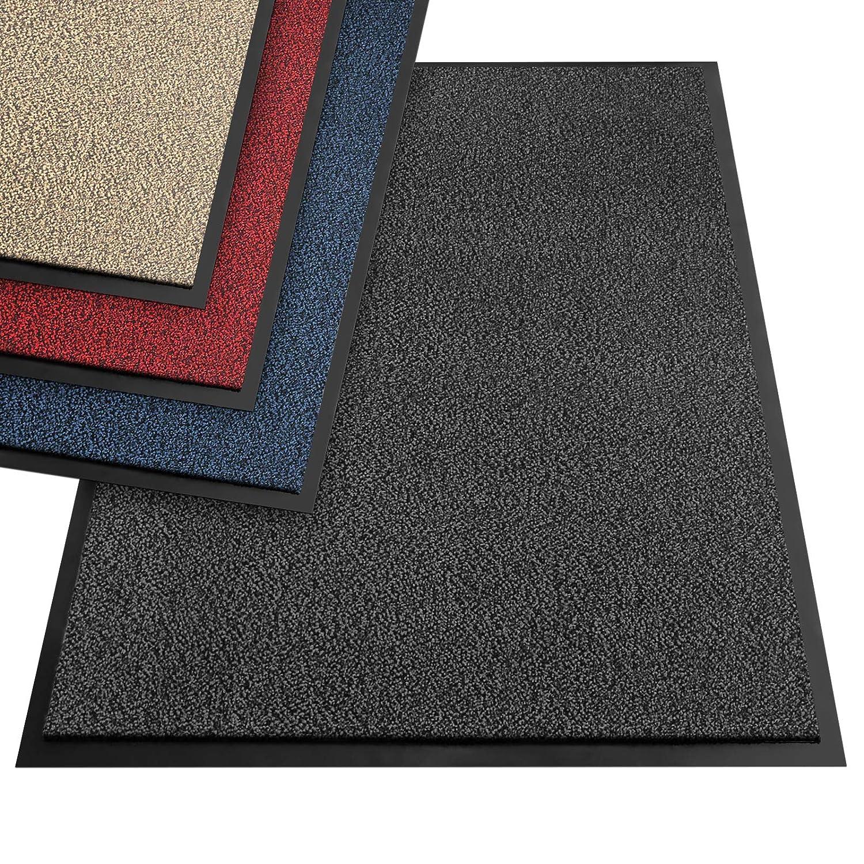 Floordirekt EVEREST Schmutzfangmatte SKY - Testsieger - Fußmatte in vielen Farben und Größen - anthrazit-schwarz, 120x600 cm