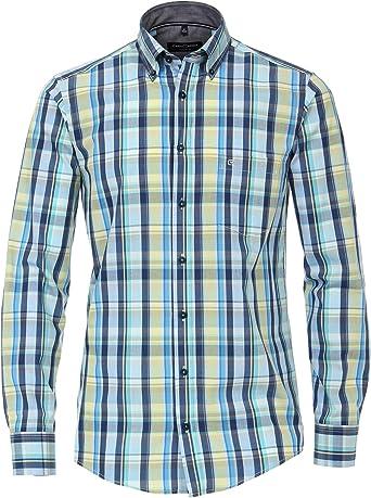 Casa Moda - Camisa Casual para Hombre, diseño a Cuadros ...