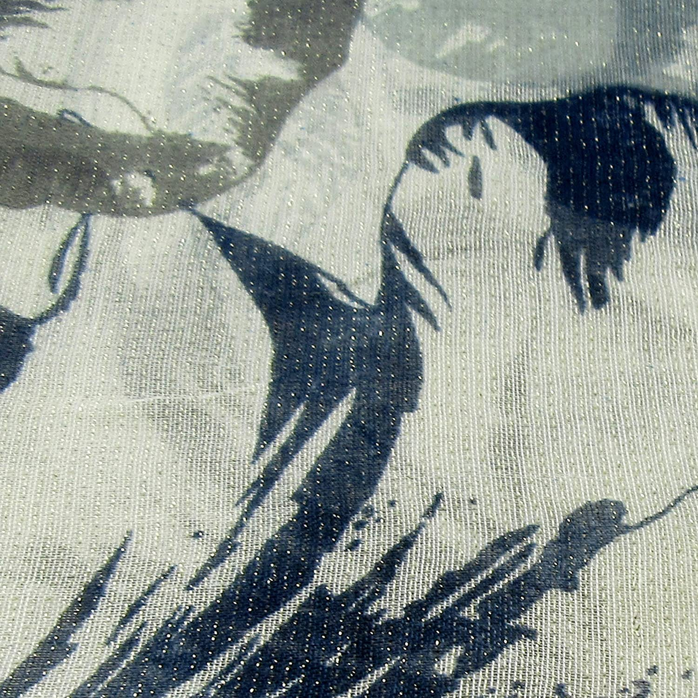 Zisla Foulard//Sciarpa con stampa floreale a due colori