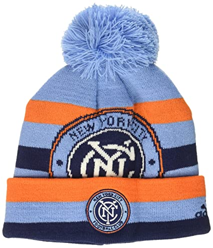 2fc2745856bde Amazon.com   MLS Youth Boys Cuffed Knit Hat with Pom   Sports   Outdoors