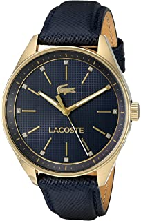 Lacoste Womens PHILADELPHIA Quartz Resin and Leather Casual Watch, Color:Blue (