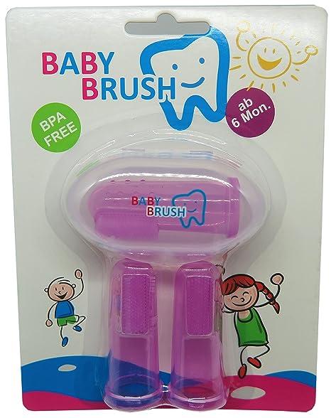 Baby Brush, Cepillo de dientes de dedos, zahnpfle Niños bebés, Cuidado bucal infantil