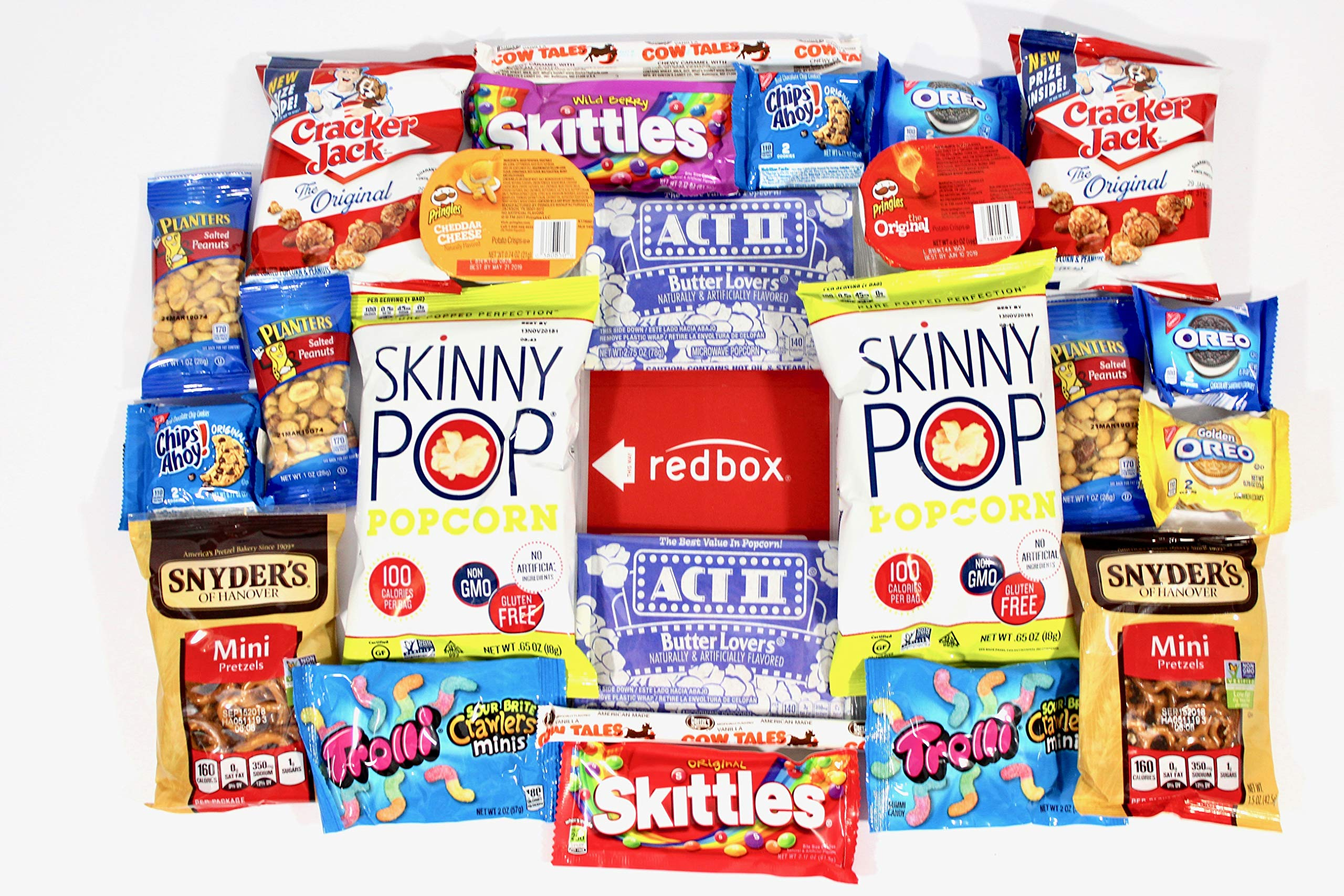 ultimate movie night care package full of delicious snacks and redbox rental code - Redbox Christmas Movies