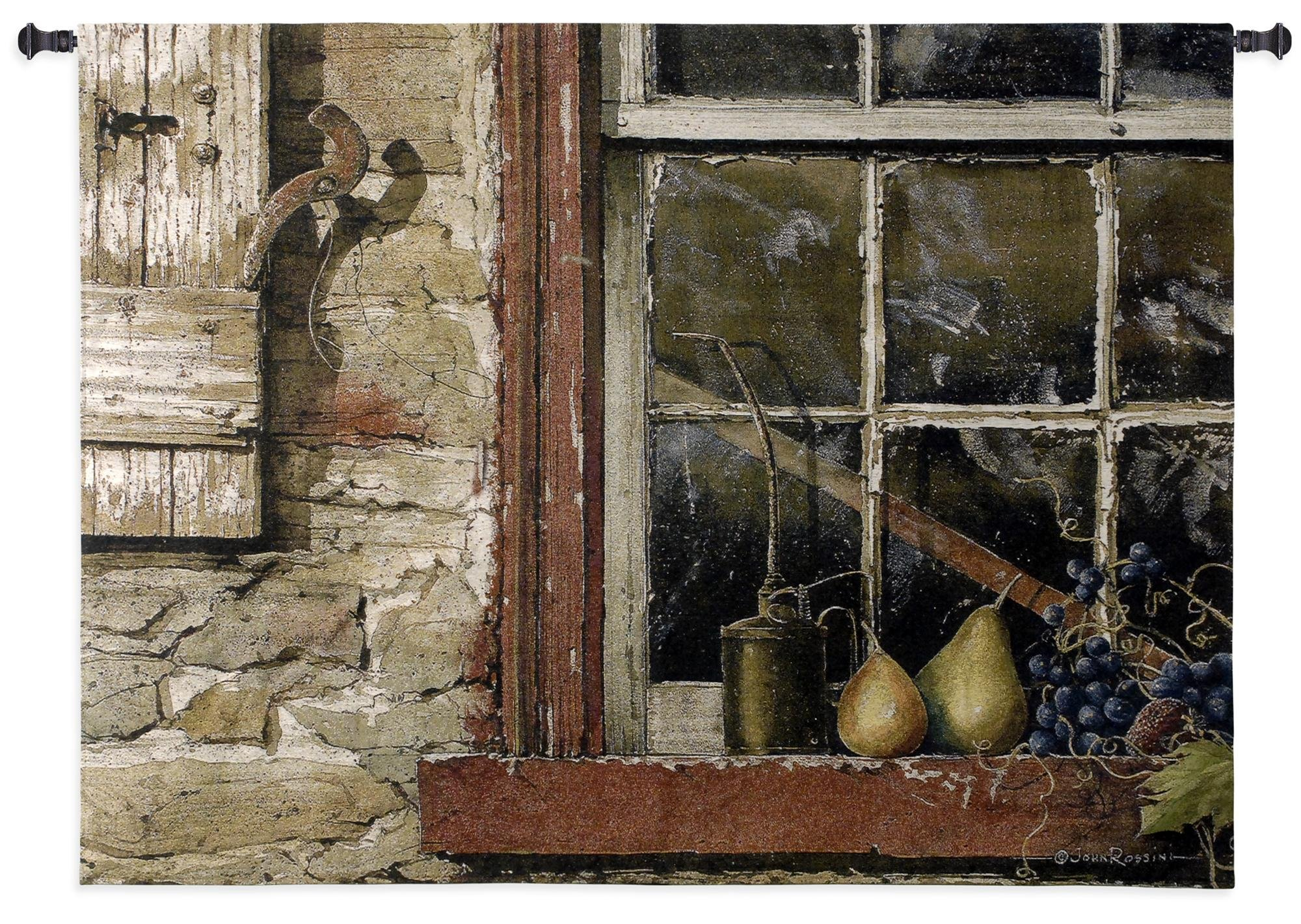 Fine Art Tapestries ''Fruit On Window Sill'' Wall Tapestry