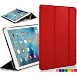 "ForeFront Cases® New Apple iPad Mini 7.9"" with Retina Display Leather Case Cover / Stand with Magnetic Auto Sleep Wake Function For New 2013 Apple iPad WiFi 16Gb, 32Gb, 64Gb, 128Gb - RED"