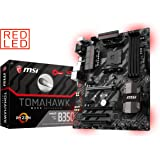 MSI B350 TOMAHAWK Socket AM4 AMD Ryzen 7th Gen Athlon DDR4 USB 3.1 ATX Motherboard - Black