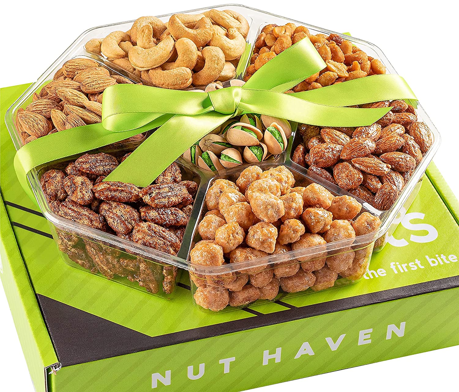 Holiday Nuts Gift Basket - Fresh Sweet & Salty Dry Roasted Gourmet Gift Basket - Food Gift Basket for Holiday, Christmas, Thanksgiving, Fathers Day, Mothers Day, Sympathy, Family, Men & Women