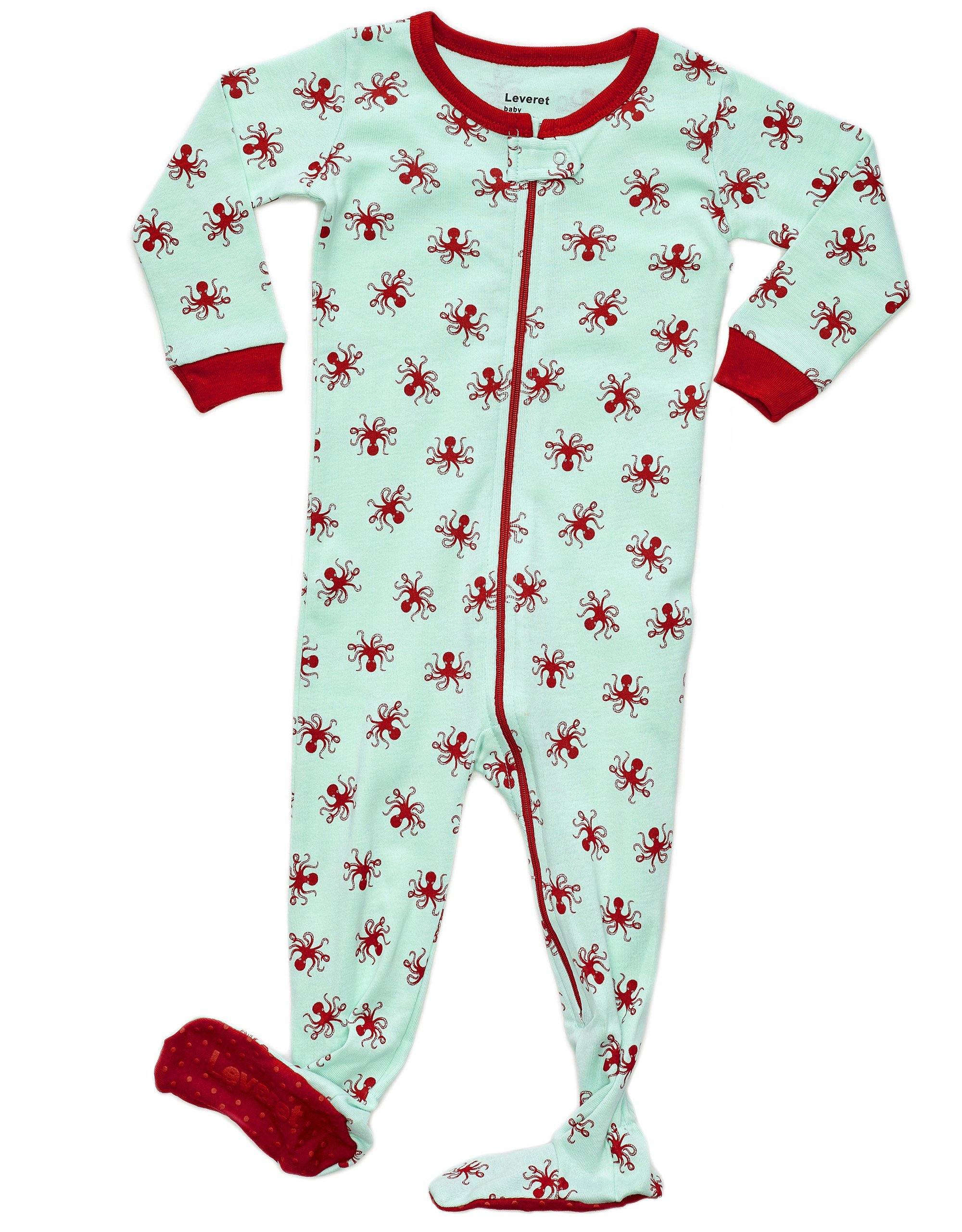 aeae520264aa Amazon.com  Octopus Footed Pajama 100% Cotton (6-12 Months ...