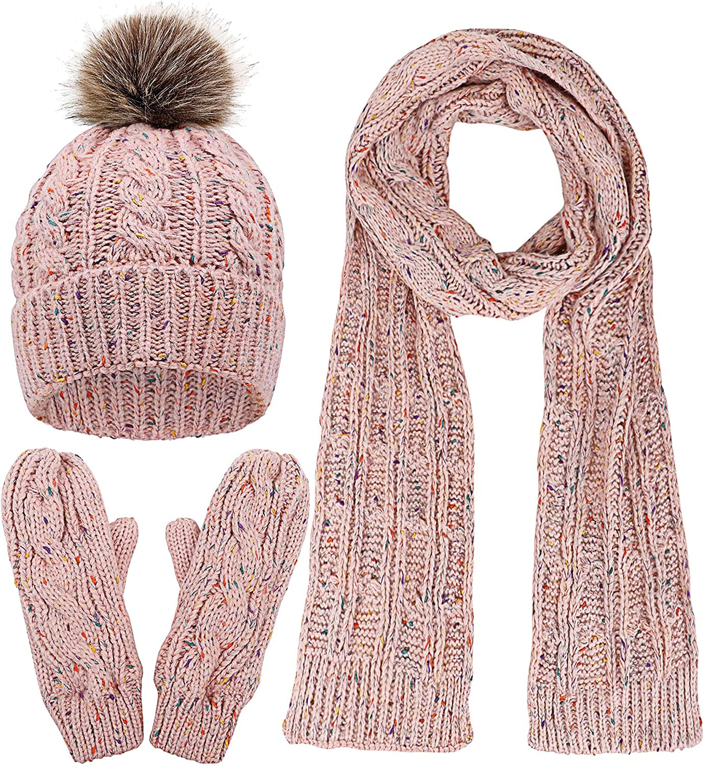 Ladies//Womens Embellished Cable Knit Winter Beanie Hat HA469