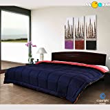Snoopy Home Ultra Soft Microfibre Reversible Double Bed Comforter - King Size, Navy Blue and Red