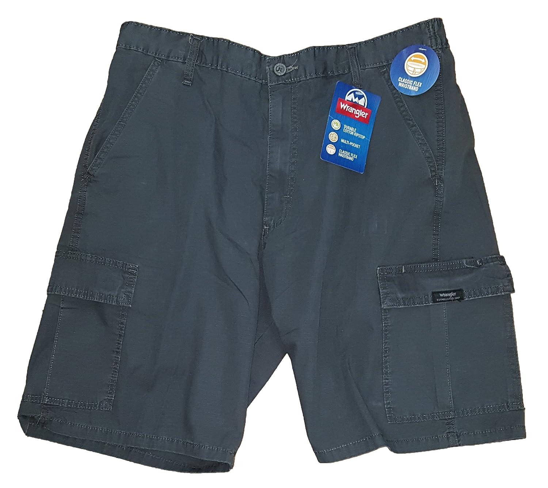 Wrangler Anthracite Gray Rip-Stop Cargo Shorts