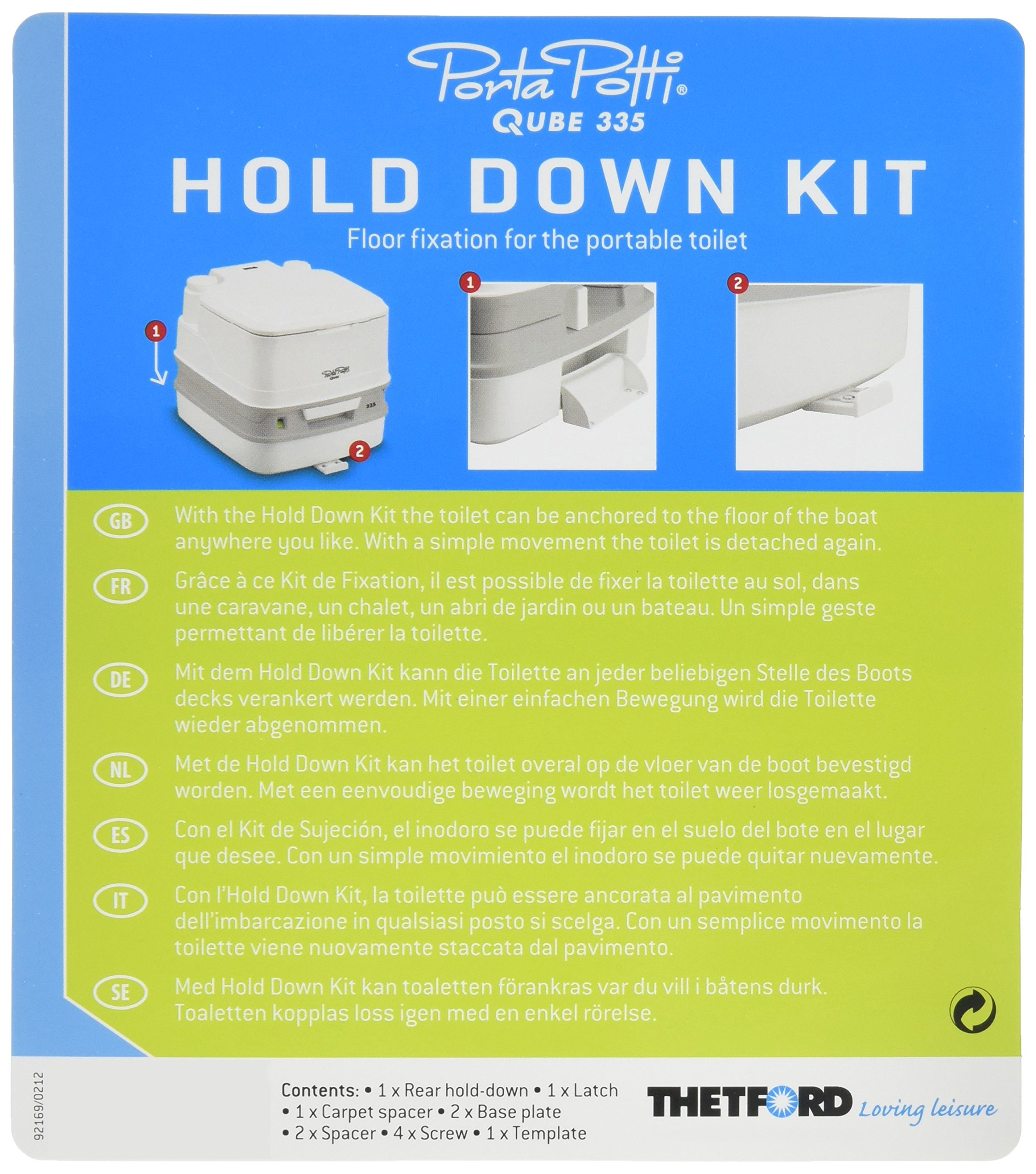 Thetford 92921 Hold-Down Kit for Porta Potti 260