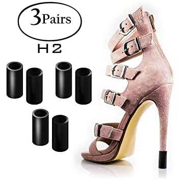 21eaf96a1f396 Heel Hunks Black H2 10mm 3-Pairs Heel Protectors Replacement Tip Caps for  High Heel Shoes...