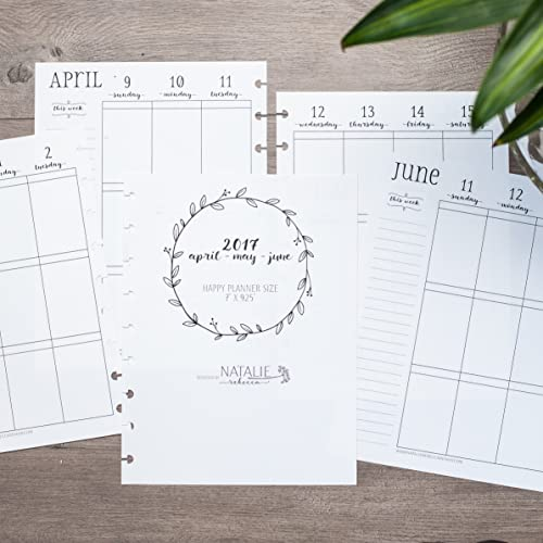 amazon com dated calendar inserts for the happy planner april may