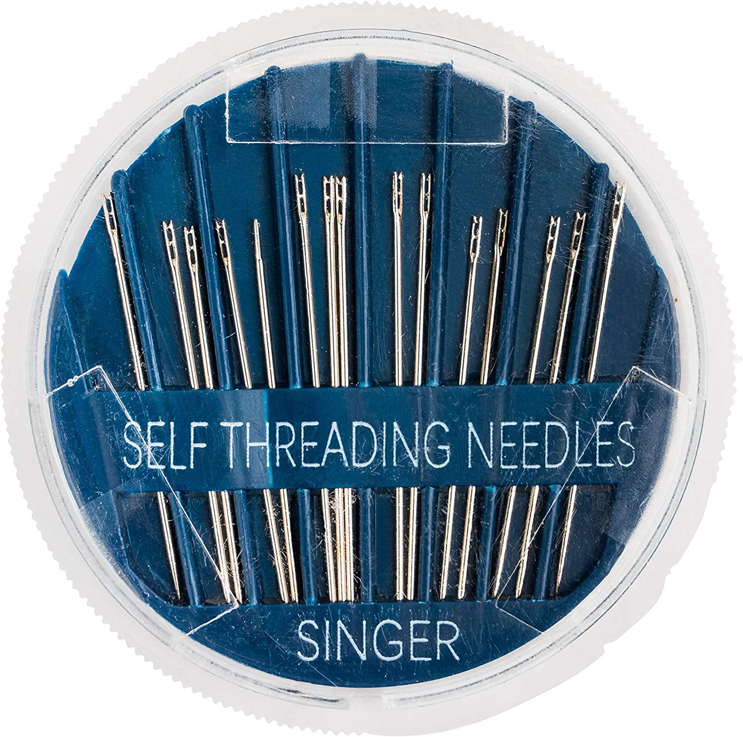 PiniceCore Stainless Steel Opening Sewing Darning Needles Self-Threading Needles Set for Leather Denim Silk Canvas Cotton