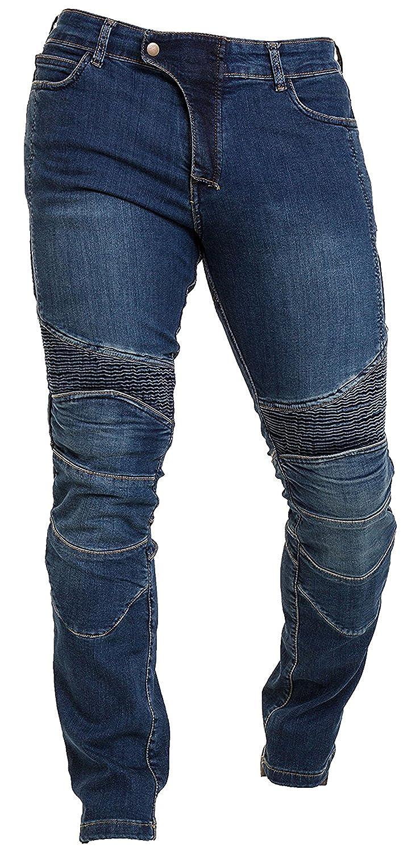 Qaswa Men's Motorcycle Denim Pants Motorbike Jeans Stretch Panel Aramid Protection Lining Biker Trousers