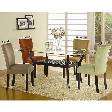 amazon com a line furniture mirage microfiber parson chairs set