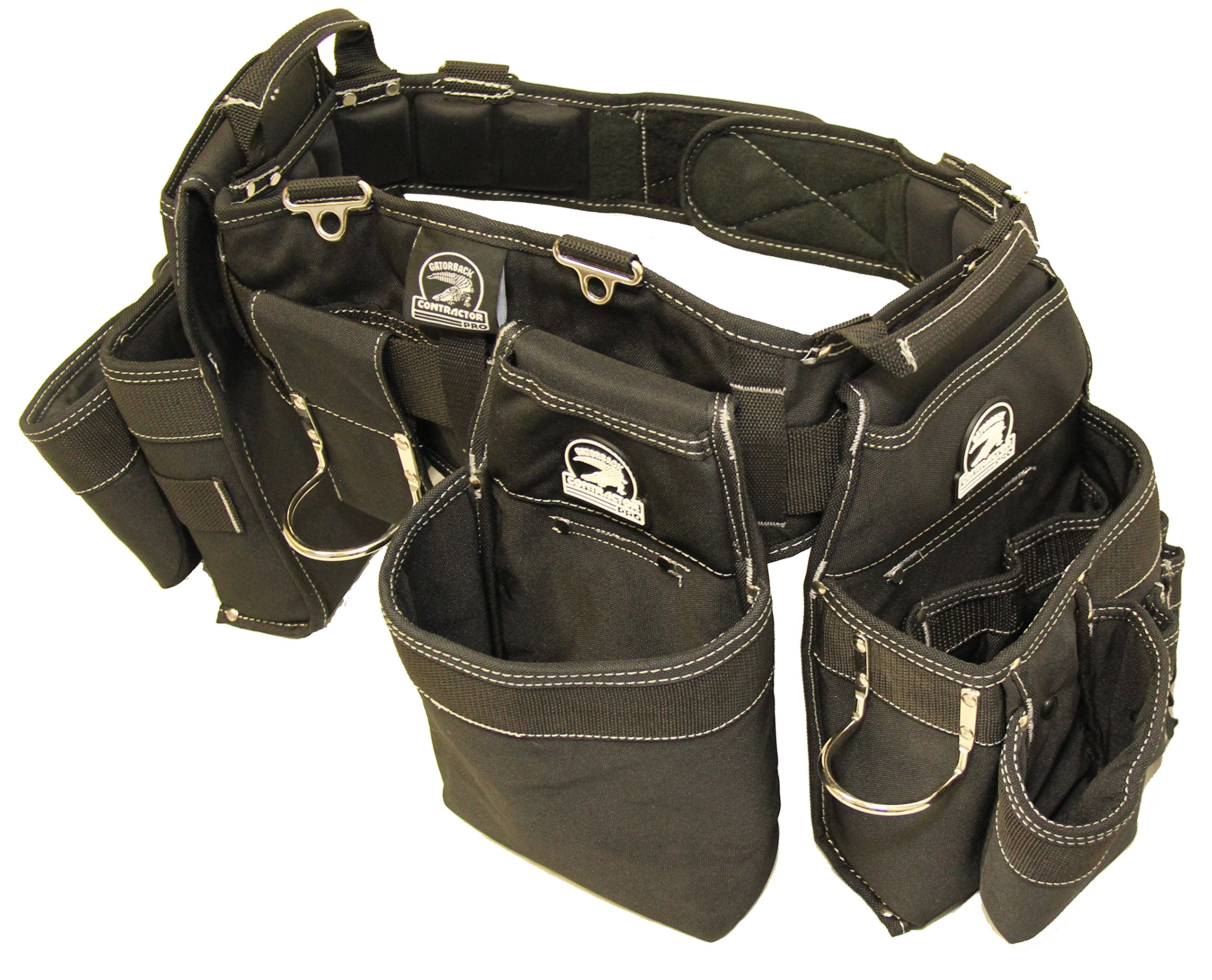 Gatorback B145 Carpenters Triple Combo w/Pro-Comfort Back Support Belt. Heavy Duty Work Belt (Medium 31''-35'')