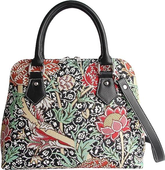 Bolso Convertible de Moda Signare para Mujer en Tela de Tapiz Bolso de Hombro William Morris The Cray