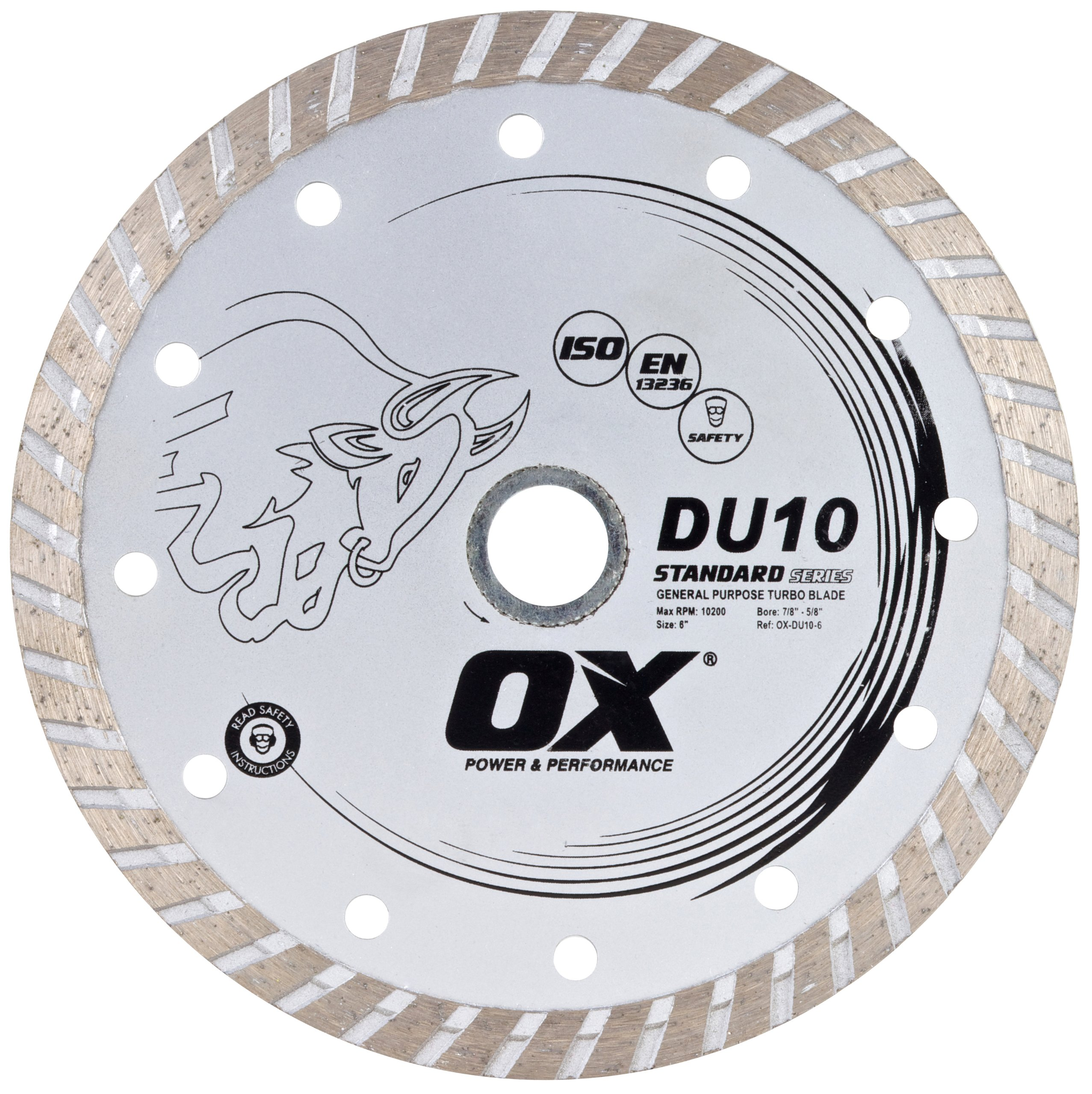 Disco de Diamante OX TOOLS OX-DU10-4.5 estándar de uso general Turbo de 4.5 pulg.