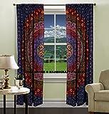 indiano porta finestra balcone tende boho mandala drappo mantovane drappo artigianale tenda arazzo copriletto da handicraft-palace