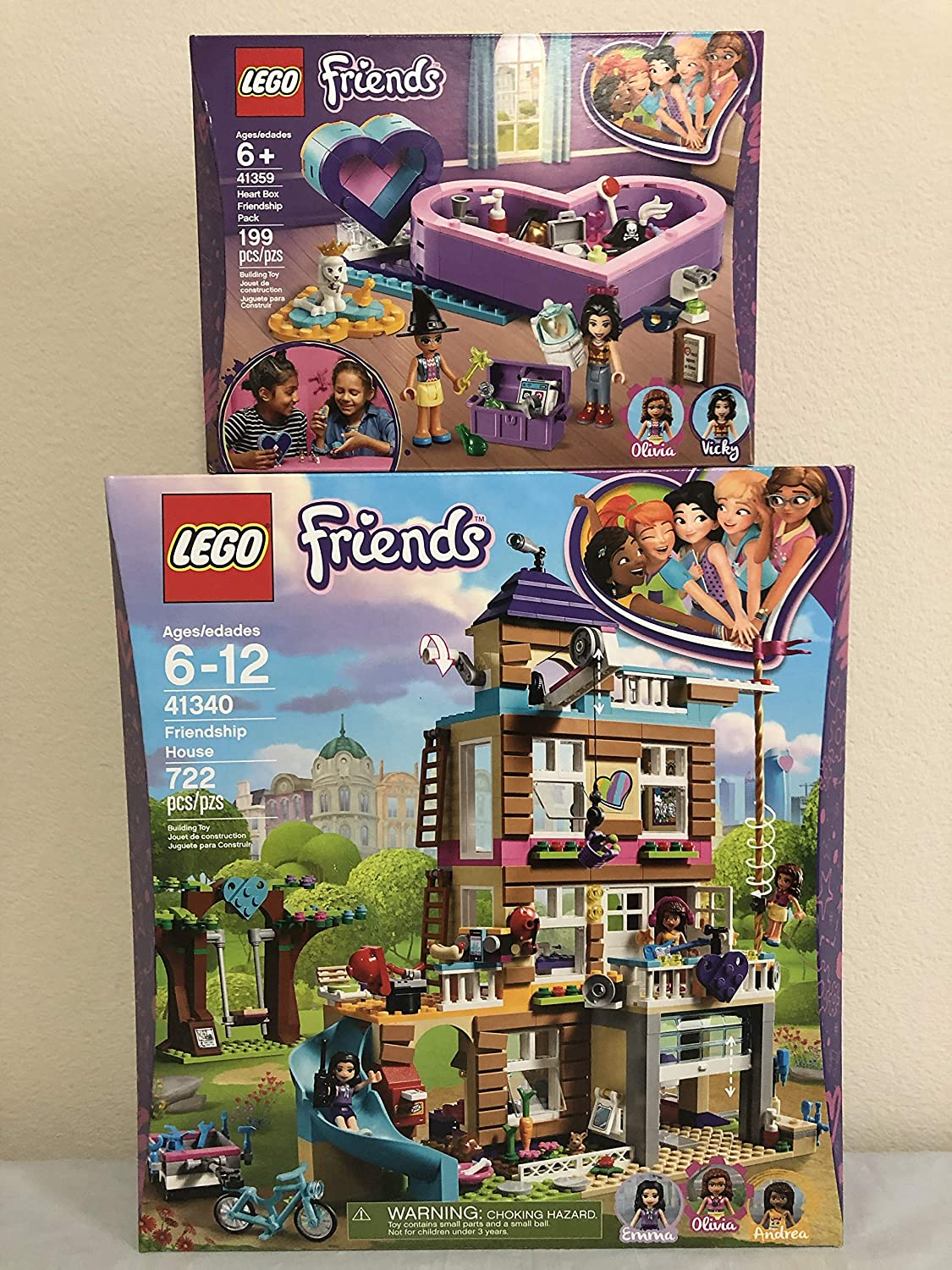 Lego Friends Friendship House Bundled with Lego Friends Heart Box Friendship Pack