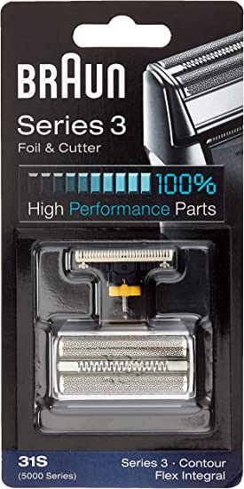 Braun 31S - Recambio para afeitadora eléctrica hombre para Series 3 (antigua generación), Contour, Flex XP y Flex ...