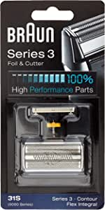 Braun 31S - Recambio para afeitadora eléctrica hombre para Series 3 (antigua generación), Contour, Flex XP y Flex Integral, lamina y bloque cortante: Amazon.es: Salud y cuidado personal