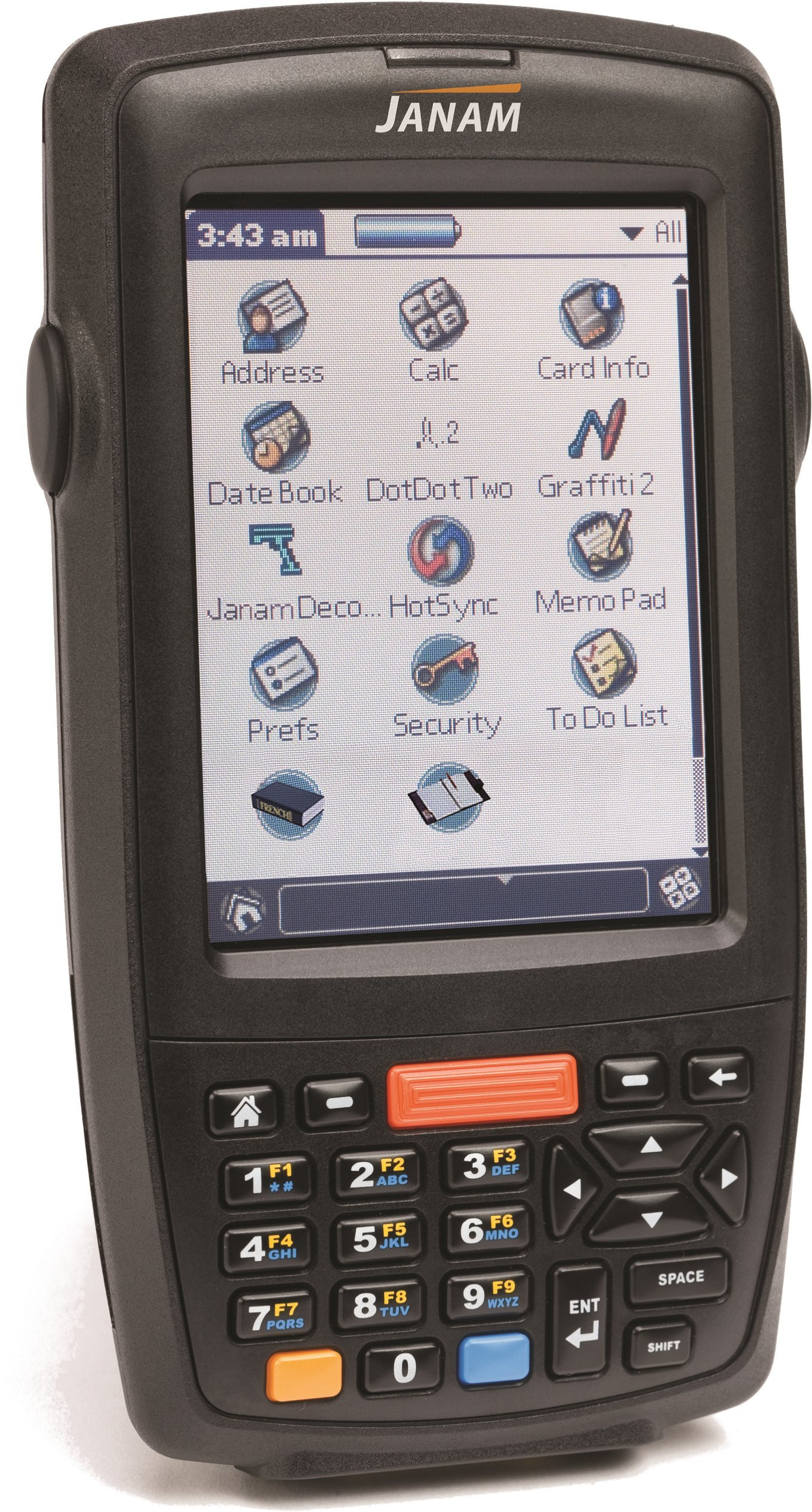 Janam XM66N-1NXFBV00 Series XM66 Handheld Computing Devices, Rugged PDA, BT, Win Mobile 6.1, 256 MB/256 MB, 2D Imager, Numeric Keypad, 3.5'' Color Display, Micro SD Slot