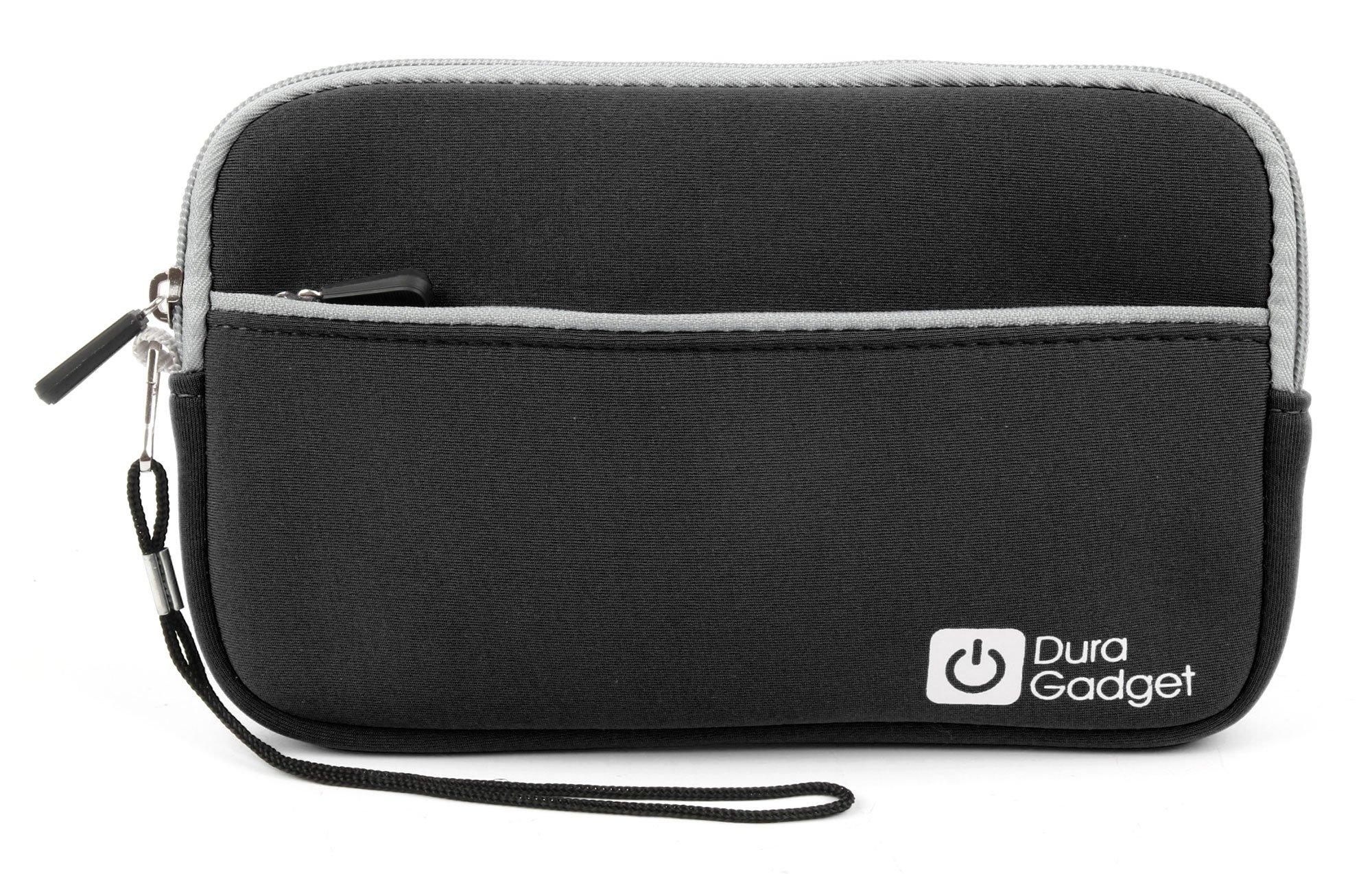 """DURAGADGET Black 7'' Water & Scratch-Resistant Neoprene Case - Compatible with Jimwey 7"""" satnav"""