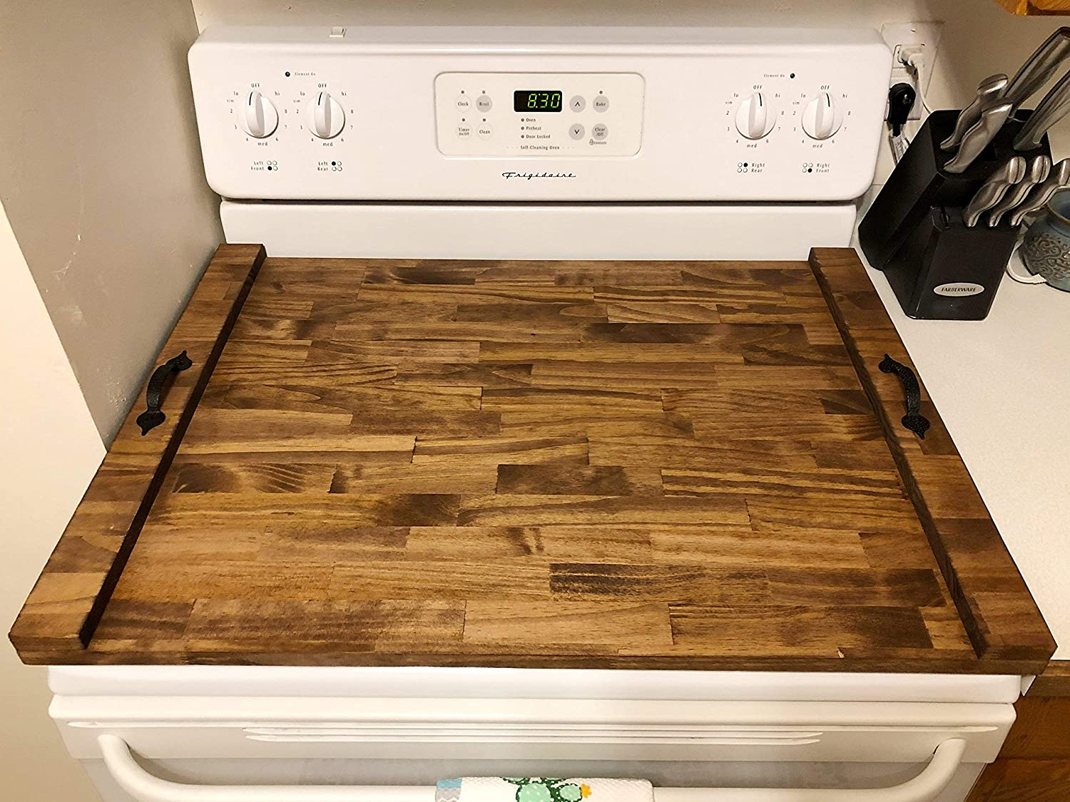 Rustic Stove Top Cover, Wooden Tray For Stove, Stove Top Tray, Stove Tray, Decorative Tray, Cook Top