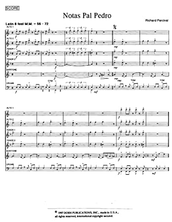 Amazon.com: Notas pal Padro for Saxophone Quintet by Richard ...