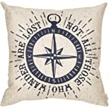 Fjfz Not All Those Who Wander Are Lost Inspirational Travel Quote Decoration with Nautical Compass Rose Vintage Décor…